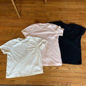 Bundle: Everlane Tee T Shirt White Black Blush